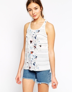 Floral And Stripe Mix Print Top by Asos in Trainwreck