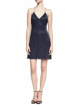 Suze V-Neck Sequined Mini Dress by Alice + Olivia in Pitch Perfect 3