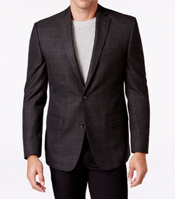 Classic-Fit Plaid Sport Coat by Michael Michael Kors in Rosewood