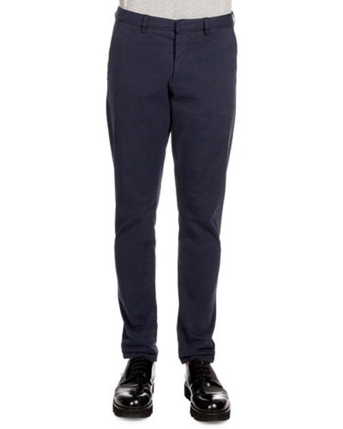 Tapered Cotton Chino Pants by Ami in The Second Best Exotic Marigold Hotel