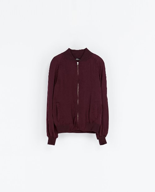 W&B Collection Bomber Jacket by Zara in If I Stay