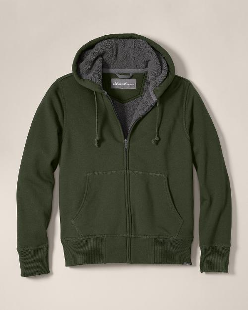 Cascade Falls Sherpa Fleece Hoodie Jacket by Eddie Bauer in Prisoners