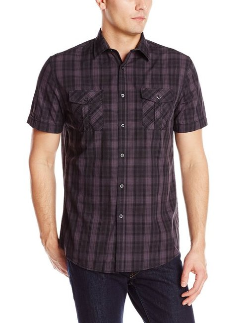 Short Sleeve Button Down Shirt by Axist in Get Hard