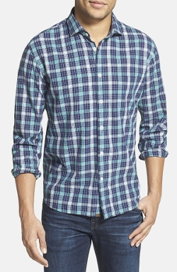 'John T' Standard Fit Plaid Sport Shirt by Billy Reid in Fantastic Four