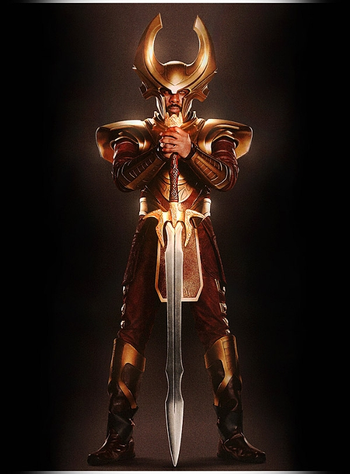 Custom Made 'Heimdell' Costume by Alexandra Byrne (Costume Designer) in Thor
