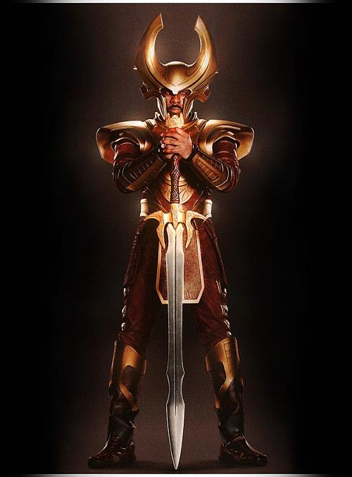Custom Made 'Heimdell' Costume by Alexandra Byrne (Costume Designer) in Thor