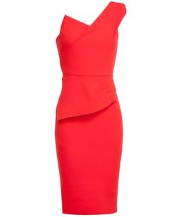 Maniola One-Shoulder Stretch-Jersey Dress by Roland Mouret in Focus