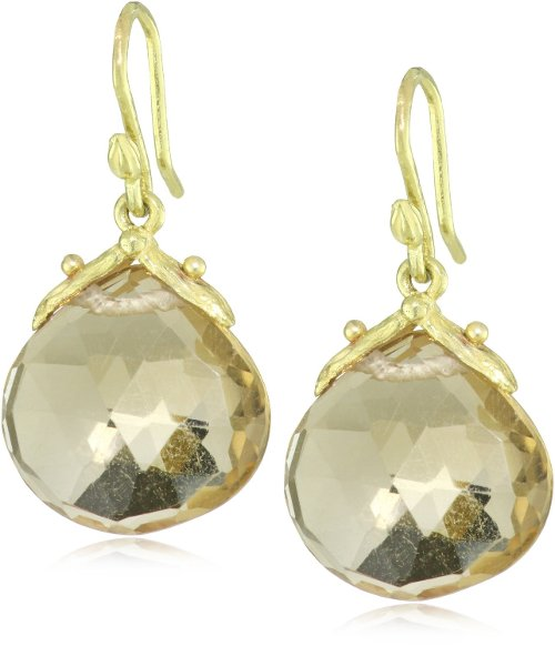 Yellow Gold Champagne Citrine Dangle Earrings by Gabrielle Sanchez in Fifty Shades of Grey
