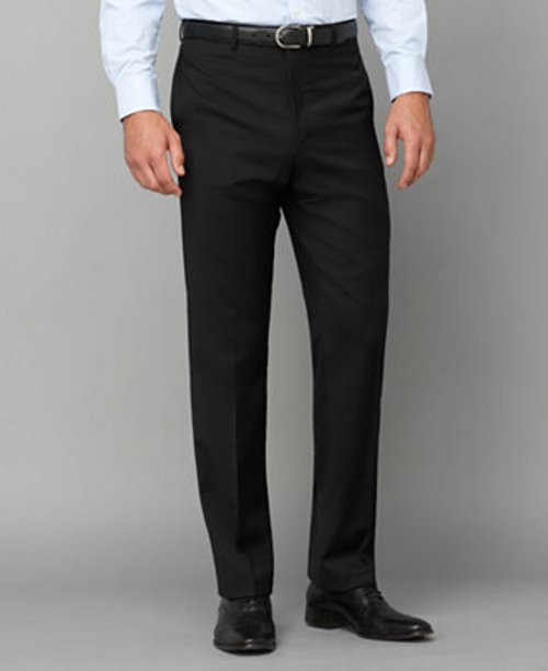 Black Flat-Front Trim-Fit Pant by Tommy Hilfiger in Horrible Bosses 2