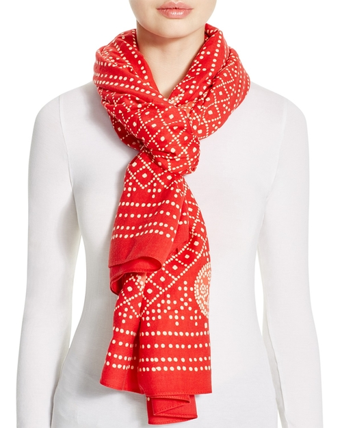 Crab-Print Scarf by Tory Burch in The Boss