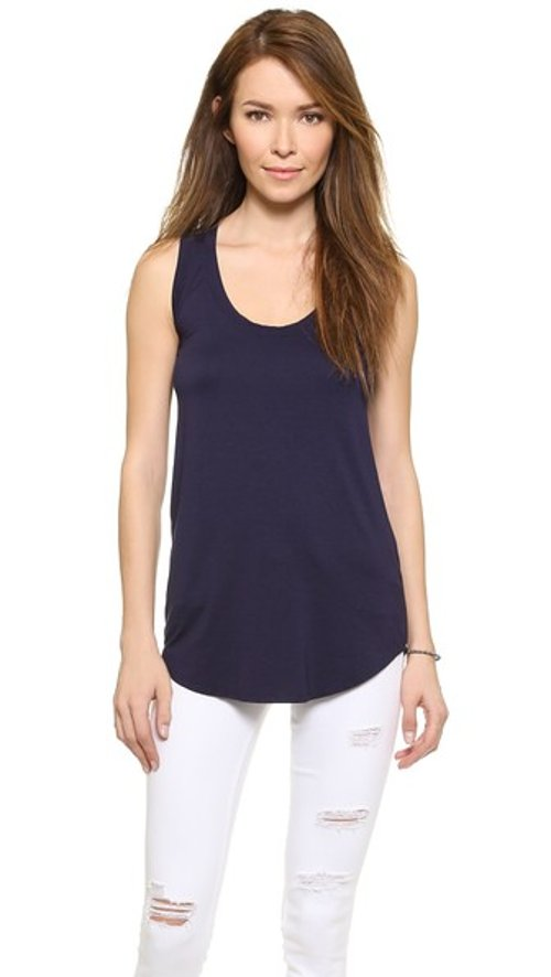 Scoop Neck Tank by Three Dots in While We're Young