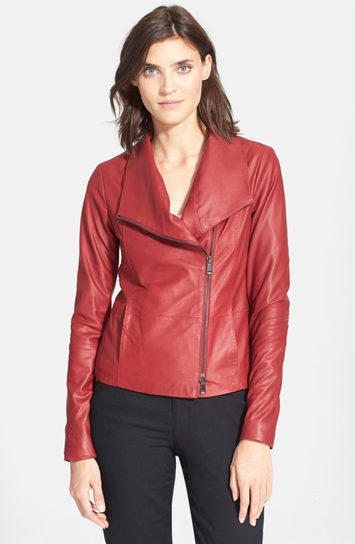 Leather Scuba Jacket by Vince in The Mindy Project - Season 4 Episode 4