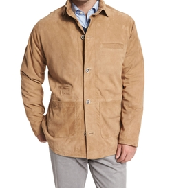 Suede Button-Down Shirt Jacket by Peter Millar in Sharknado 4: The Fourth Awakens