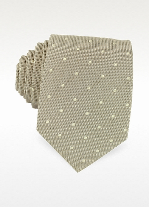 Dots Print Woven Silk Tie by Forzieri in The Vampire Diaries - Season 7 Episode 6