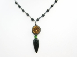 Spike Tear Drop Necklace by Sienna Grace Jewelry in The Vampire Diaries