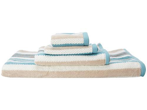 Oxford Stripe 3 Piece Towel Set by Kassatex in Lucy