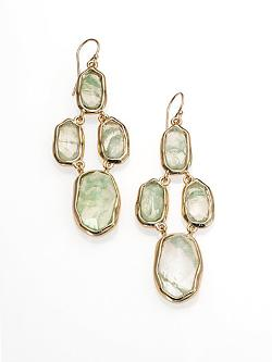 Aqua Green Crackle Glass Chandelier Earrings by Alexis Bittar in Laggies