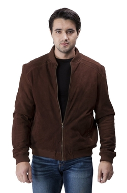 Suede Bomber Jacket by United Face in Modern Family