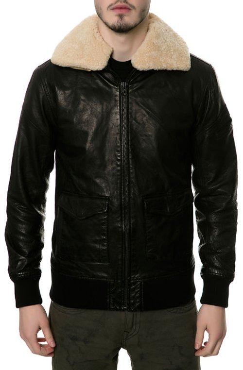 The Shearling Pilot Jacket in Black by Black Scale in The Secret Life of Walter Mitty