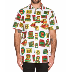 Merit Badge Button Down Shirt by Lazy Oaf in Mr. & Mrs. Smith