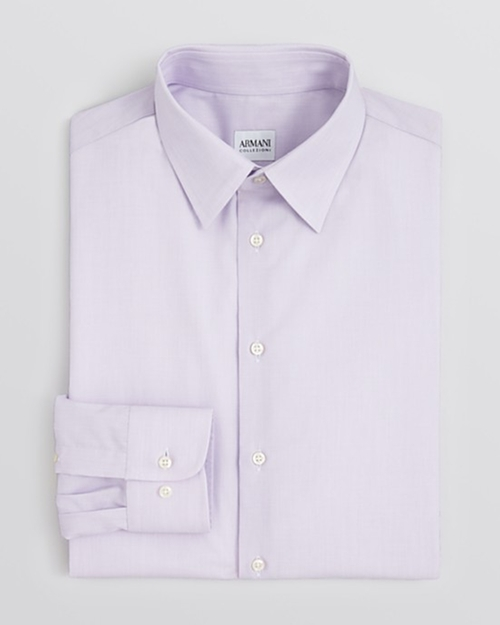 End-on-End Solid Dress Shirt by Armani Collezioni in Empire - Season 2 Episode 1