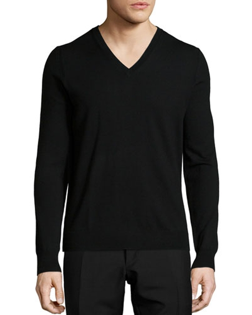 Dockley Wool V-Neck Sweater by Burberry Brit in The Walk