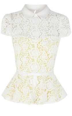 Cute Feminine Lace Top by Karen Millen in Ex Machina