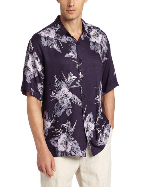 Rayon Printed Tropical Woven Shirt by Cubavera in Pretty Little Liars - Season 6 Episode 14