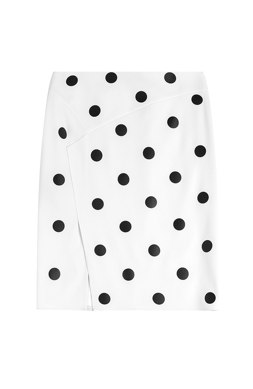 Tasha Wool Skirt With Polka Dots by Ralph Lauren in Empire