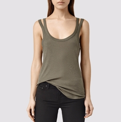 Colette Strap Tank Top by All Saints in The Fate of the Furious