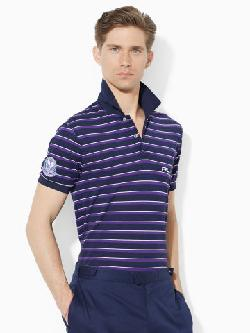 Wimbledon Striped Polo Shirt by RLX Tennis in Million Dollar Arm