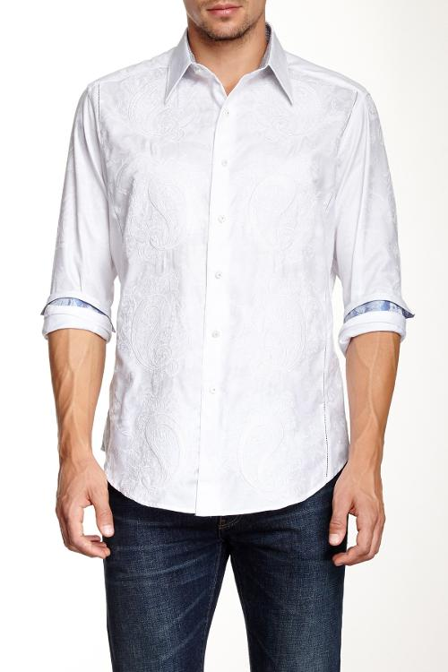Luciano Long Sleeve Limited Edition Woven Shirt by Robert Graham in No Strings Attached