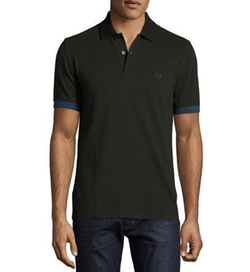Contrast-Cuff Piqué Polo Shirt by Fred Perry in The House