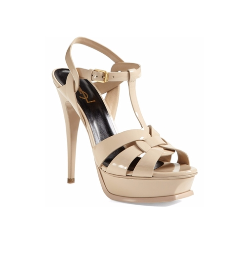 Tribute T-Strap Platform Sandals by Saint Laurent in Dumb and Dumber To