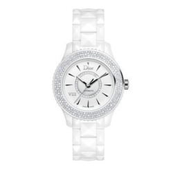 Dior VIII Diamond & White Ceramic Bracelet Watch by Dior in Keeping Up With The Kardashians