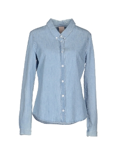 Denim Shirt by (+) People in The Gift