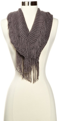Women's Super Soft Infinity Fringed Scarf by La Fiorentina in Modern Family