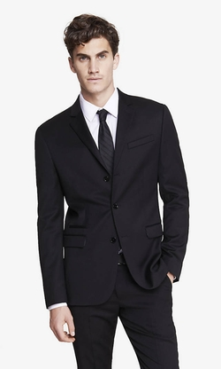Three Button Photographer Suit Jacket by Express in The Blacklist