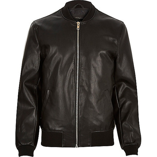 Leather-Look Bomber Jacket by River Island in Mike and Dave Need Wedding Dates