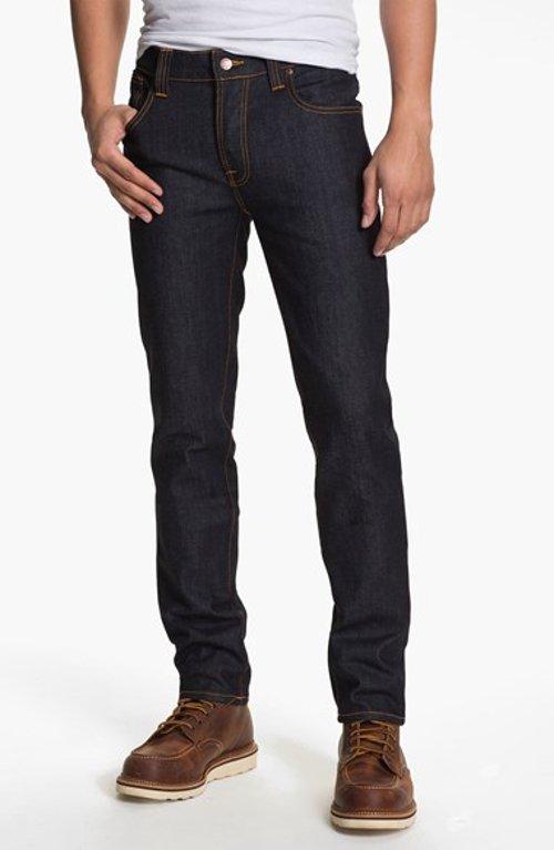 Skinny Straight Leg Jeans by Nudie Jeans in The Gunman