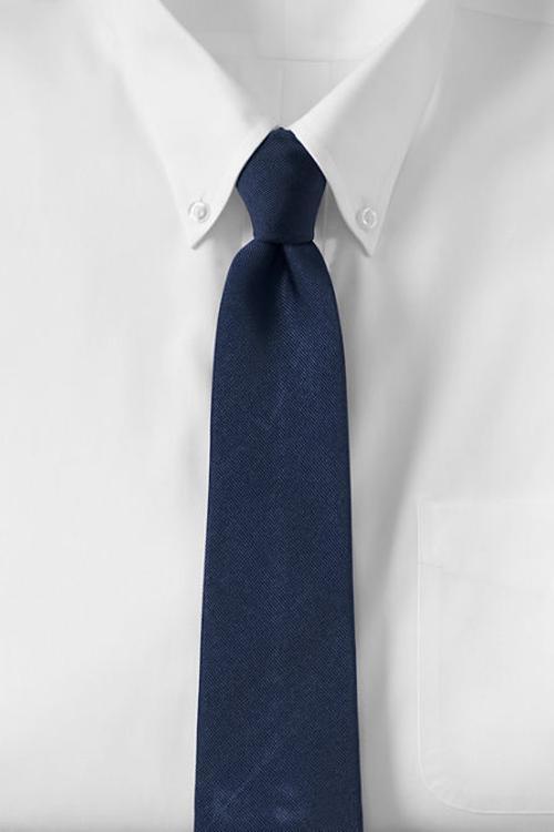 jake gyllenhaal lands end s solid silk repp tie from