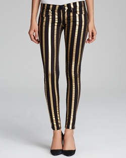 My BFF Leggings in Gold Stripe by Frankie B Jeans in Rock The Kasbah