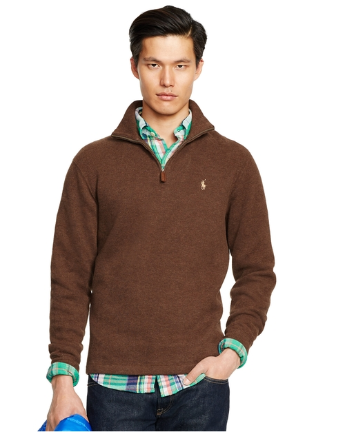 French Rib Half-Zip Pullover Sweater by Polo Ralph Lauren in Crazy, Stupid, Love.
