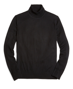 Saxxon Wool Turtleneck Sweater by Brooks Brothers in Barely Lethal