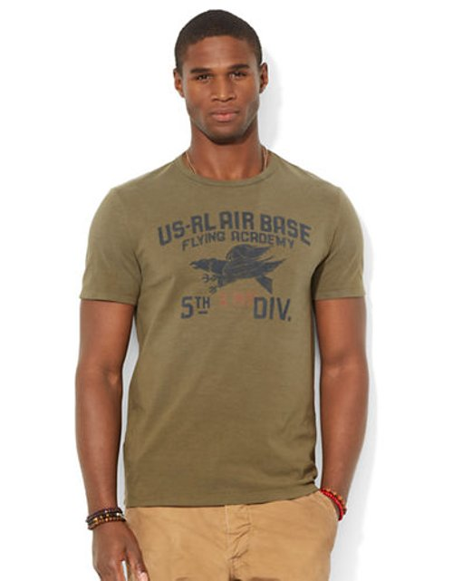 Custom Fit Flying Academy T Shirt by Polo Ralph Lauren in If I Stay