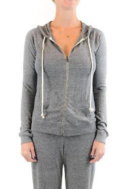 Zipped Hoodie Sweatshirt by Shoptiques in No Strings Attached