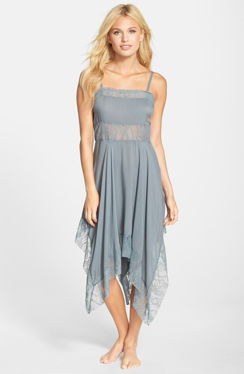 Dobby Dot Lace Trim Trapeze Slip Dress by Free People in Pretty Little Liars - Season 6 Episode 10