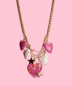Multi Rhinestone Heart Pendant Necklace by Betsey Johnson  in High School Musical 3: Senior Year