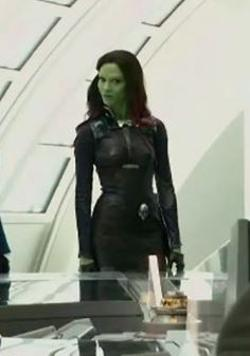 Custom Made Costume (Gamora) by Alexandra Byrne (Costume Designer) in Guardians of the Galaxy