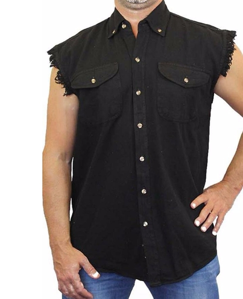 Basic Plain Sleeveless Biker Shirt by Impress For Less USA in The Walking Dead - Season 6 Looks